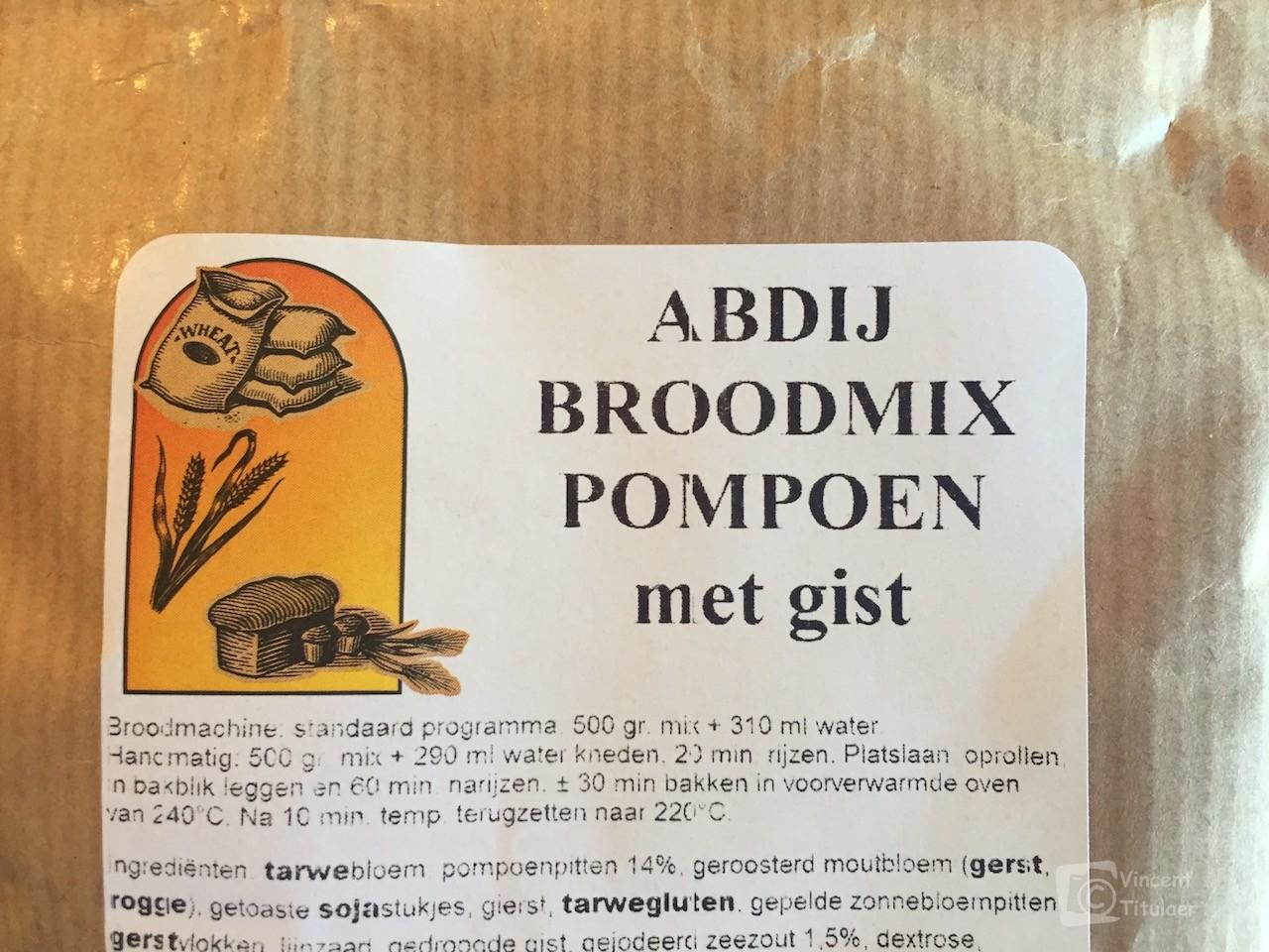 Abdij Broodmix Pompoen
