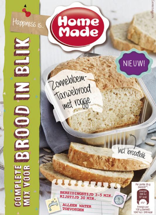 Homemade Brood in blik, Zonnebloem Tarwe